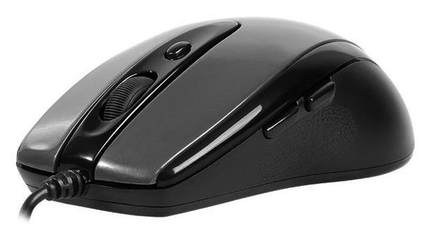 Крупное изображение мышь a4tech n-708x-1 v-track padless glossy grey (n-708x-1) из раздела мыши